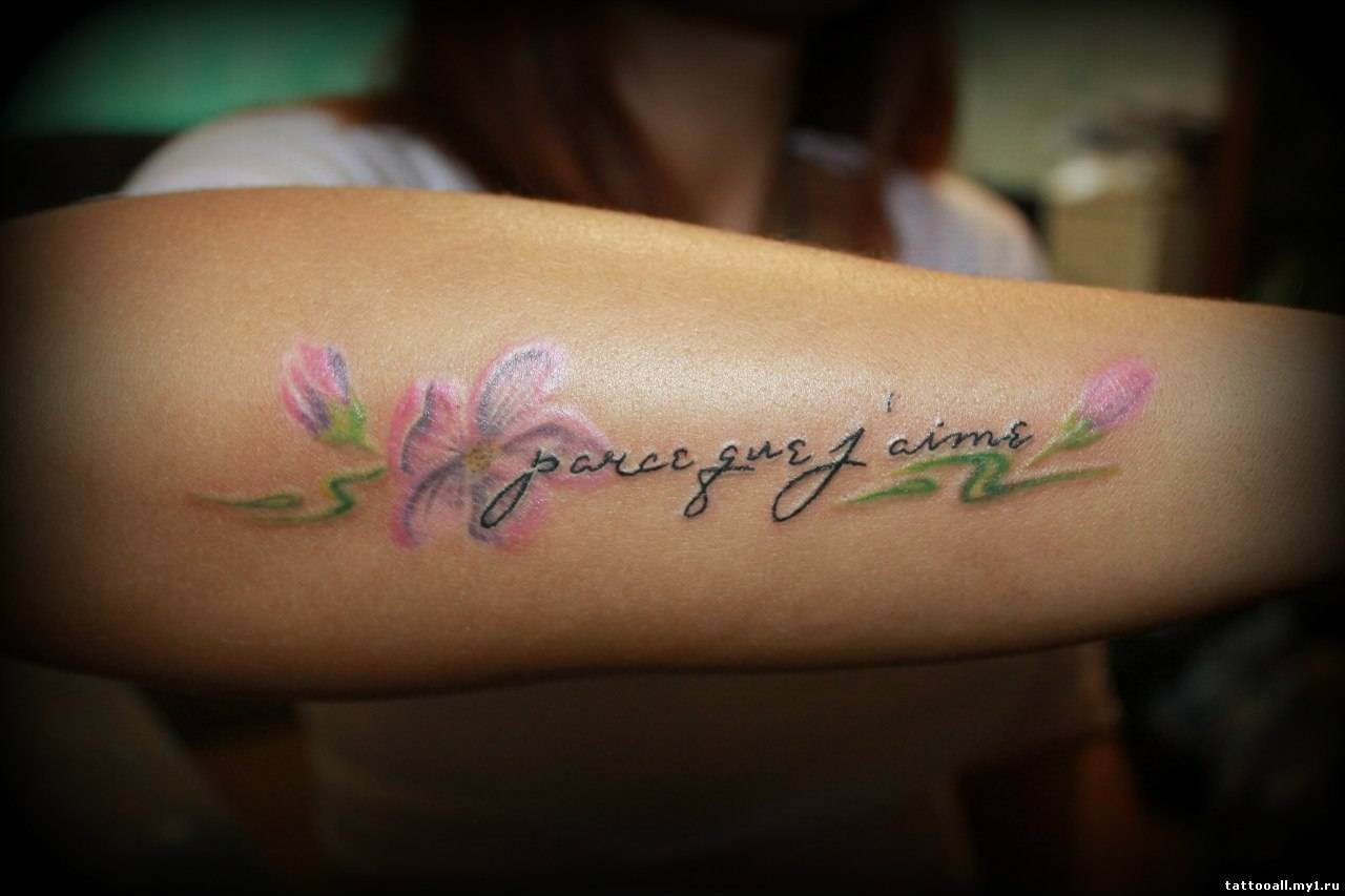 Красивые надписи на руке тату для девушек фото